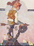 Illustration:Magazine, NORMAN ROCKWELL (American, 1894-1978). Boy on Weather Vane (OnTop of the World), The Saturday Evening Post preliminary co...(Total: 2 Items)