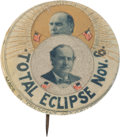 Political:Pinback Buttons (1896-present), William Jennings Bryan: Highly Desirable Single Portraits ColorEclipse Pin....