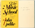Books:Literature 1900-up, John Updike. INSCRIBED. The Music School. New York: Knopf, 1966. First edition, first printing. Inscribed by the a...