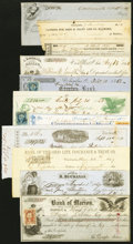 Obsoletes By State:Ohio, Ohio Group of Pre Civil War Checks and Drafts Thirty Five ExamplesFine and Better.. ... (Total: 38 items)