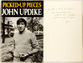 Books:Social Sciences, John Updike. INSCRIBED. Picked-Up Pieces. New York: Knopf,1975. First edition, first printing. Inscribed by the a...