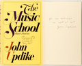 Books:Literature 1900-up, John Updike. INSCRIBED REVIEW COPY. The Music School. New York: Knopf, 1966. First edition, first printing. Inscri...