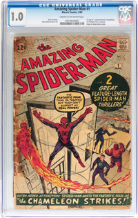 The Amazing Spider-Man #1 (Marvel, 1963) CGC FR 1.0 Cream to off-white pages