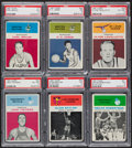 Basketball Cards:Lots, 1961 Fleer Basketball PSA Graded Group (6). ...