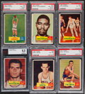 Basketball Cards:Lots, 1957 Topps Basketball Graded Group (6). ...