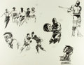 """Books:Original Art, [Original Art]. Frank Mullins (b. 1924). Original Pencil Drawings for """"Jeff, It's Up to You!"""" Used in the February 1964 Am..."""