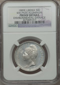 Liberia, Liberia: Republic Proof Pattern 50 Cents in aluminum 1889-E ProofDetails (Environmental Damage) NGC,...