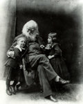 Books:Prints & Leaves, George Collins Cox. Oversize Photograph of Walt Whitman, age 67,circa 1886. Measures 18.5 x 23 inches. Production notes to ...