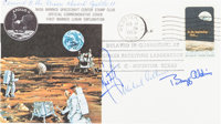 Apollo 11 Flown Crew-Signed Quarantine Cover, C-53, Directly from the Personal Collection of Mission Command Module Pilo...