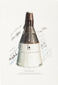 "Explorers:Space Exploration, ""Gemini Spacecraft"" Rare McDonnell Lithograph Signed by FourteenAstronauts Who Flew in Project Gemini. ..."
