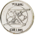 Explorers:Space Exploration, Gemini 10 Flown Fliteline Silver-Colored Medallion Directly fromthe Personal Collection of Mission Pilot Michael Collins, wit...