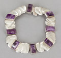 Silver & Vertu:Smalls & Jewelry, A HÉCTOR AGUILAR MEXICAN SILVER AND AMETHYST QUARTZ NECKLACE . Héctor Aguilar, Taxco, Mexico, circa 1943-1948. Marks: HA ...