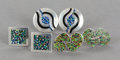 Silver Smalls:Other , THREE PAIRS OF MARGOT DE TAXCO MEXICAN SILVER AND ENAMEL CUFFLINKS. Margot Van Voorhies Carr, Taxco, Mexico, circa 1950. Ma...(Total: 6 Items)