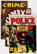 Golden Age (1938-1955):Crime, Comic Books - Assorted Golden Age Crime and Horror Comics Group (Various Publishers, 1950s).... (Total: 5 Comic Books)