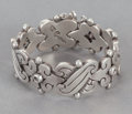 Silver Smalls:Other , A HÉCTOR AGUILAR MEXICAN SILVER BRACELET . Héctor Aguilar, Taxco,Mexico, circa 1940-45. Marks: HA (conjoined),TAXCO,...