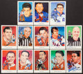 Hockey Cards:Lots, Hockey Hall of Fame Signed Postcards Lot of 13. ...