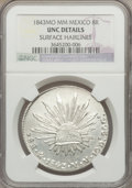 Mexico, Mexico: Republic 8 Reales 1843 Mo-MM UNC Details (SurfaceHairlines) NGC,...