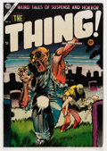 Golden Age (1938-1955):Horror, The Thing! #16 (Charlton, 1954) Condition: FN-....