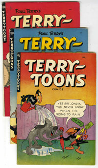 Terry-Toons Comics Group (St. John, 1950). Includes #79 (VG+), 81 (FN), #82 (4 copies - in grade of VG, VG/FN, FN, and F...