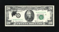 Error Notes:Ink Smears, Fr. 2069-K $20 1969B Federal Reserve Note. Choice CrispUncirculated.. A black ink smear is found on the face....
