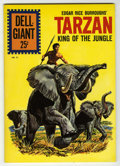 Silver Age (1956-1969):Adventure, Dell Giants #51 Tarzan King of the Jungle (Dell, 1961) Condition: NM-. Painted cover by George Wilson. Art by Jesse Marsh. O...