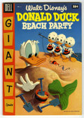 Golden Age (1938-1955):Funny Animal, Dell Giant Comics - Donald Duck Beach Party #2 (Dell, 1955)Condition: VF/NM. Painted front and back covers. Lady and the Tr...