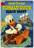 Golden Age (1938-1955):Funny Animal, Dell Giant Comics - Donald Duck Beach Party #1 (Dell, 1954)Condition: NM-. Features an Uncle Scrooge story that predates hi...