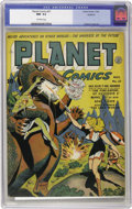 Golden Age (1938-1955):Science Fiction, Planet Comics #27 Rockford pedigree (Fiction House, 1943) CGC NM-9.2 Off-white pages. Joe Doolin's cover spotlights Gale Al...