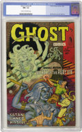 "Golden Age (1938-1955):Horror, Ghost #5 (Fiction House, 1952) CGC NM- 9.2 Cream to off-whitepages. This wild issue features the cover story ""Horrible, Wri..."