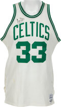 Baseball Collectibles:Uniforms, 1983-85 Larry Bird Game Worn, Signed Boston Celtics Jersey. ...