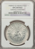Mexico, Mexico: Republic Peso 1908 Mo-GV UNC Details (Surface Hairlines)NGC,...