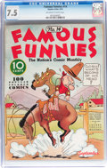 Platinum Age (1897-1937):Miscellaneous, Famous Funnies #14 (Eastern Color, 1935) CGC VF- 7.5 Off-white towhite pages....