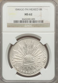 Mexico, Mexico: Republic 8 Reales 1846 Go-PM MS62 NGC,...