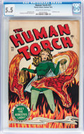 Golden Age (1938-1955):Superhero, The Human Torch #27 (Timely, 1947) CGC FN- 5.5 Cream to off-white pages....