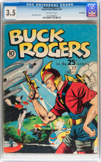 Buck Rogers #1 Recil Macon pedigree (Eastern Color, 1940) CGC VG- 3.5 Off-white pages