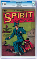 Golden Age (1938-1955):Crime, The Spirit #nn (#1) (Quality, 1944) CGC FN/VF 7.0 Off-white pages....