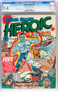Heroic Comics #9 (Eastern Color, 1941) CGC NM 9.4 Cream to off-white pages