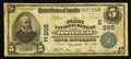 National Bank Notes:New York, Oswego, NY - $5 1902 Date Back Fr. 590 The First NB Ch. # (E)255. ...