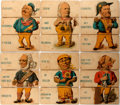 """Books:Americana & American History, [Americana]. Series of Six Comical and Archetypical AmericanCharacters """"sliced"""" into three boards with interchanging parts...."""
