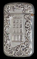 Silver Smalls:Match Safes, A WHITEHEAD & HOAG NICKEL-PLATED MATCH SAFE . Whitehead &Hoag, Newark, New Jersey, circa 1900. Marks: W. & H. CO.,NEWARK...