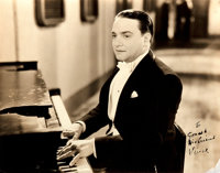Vincent Lopez (1895-1975, American bandleader and pianist) Photograph Signed. Measures 9.75 x 7.75 inches. Open tears