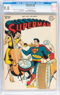 Golden Age (1938-1955):Superhero, Superman #42 (DC, 1946) CGC VF/NM 9.0 Off-white to white pages....