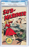 Golden Age (1938-1955):Superhero, Sub-Mariner Comics #23 (Timely, 1947) CGC FN+ 6.5 Off-white pages....