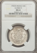 Mexico, Mexico: Republic Two Certified silver Coins 1906 1924,... (Total: 2coins)