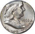 Errors, 1956 50C Franklin Half Dollar -- Struck on a Silver QuarterPlanchet -- MS65 PCGS....