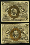 Fractional Currency:Second Issue, Fr. 1244 10¢ Second Issue Two Examples. . ... (Total: 2 notes)