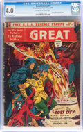 Golden Age (1938-1955):Science Fiction, Great Comics #3 (Great Comics Publications, 1942) CGC VG 4.0 Creamto off-white pages....