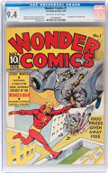 Golden Age (1938-1955):Superhero, Wonder Comics #1 (Fox, 1939) CGC NM 9.4 Off-white to white pages....
