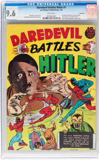 Daredevil Comics #1 Daredevil Battles Hitler - Vancouver pedigree (Lev Gleason, 1941) CGC NM+ 9.6 White pages