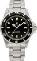 Timepieces:Wristwatch, Rolex Ref. 5513 Oyster Perpetual Submariner 660ft=220m With HackFeature, circa 1974. ...